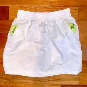AMERICAN APPAREL White Poly Tulip Tennis Skirt